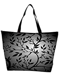 Snoogg Black Trees Seamless Vector Wallpaper Waterproof Bag Made Of High Strength Nylon