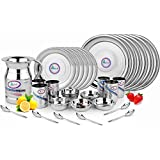 Airan Premium Quality Stainless Steel Dinner Set, 37 Pcs