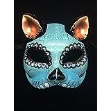 Day Of The Dead Halloween Masquerade Mask Dia De Los Muertos Mask Sky Blue Teal