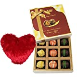 Valentine Chocholik's Luxury Chocolates - Tasteful Surprise Of Yummy Chocolates With Heart Pillow
