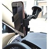 2 In 1 Mobile Phone Car Mount Holder, Adjustable 360 Degree Rotation, Universal Adjustable Windshield / Air Vent...