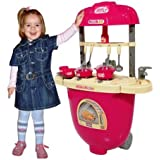 Tabu Toys World Kitchen Pretend Play Battery Operated Toy Set Trolley For Kids Ages 3+ Years