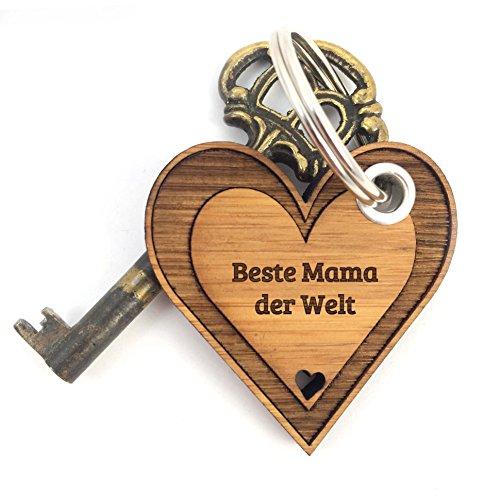 Mr. & Mrs. Panda Schlüsselanhänger Beste Mama der Welt - 100% mit Liebe handgefertigt - Geschenk Geschenkidee Danke Dankeschön Anhänger Bedanken Geburtstag Weihnachten Jubiläum Valentinstag Schenken Liebe Danke Liebesgeschenk