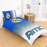 Real Madrid CF Fade Single Duvet Cover and Pillowcase Set