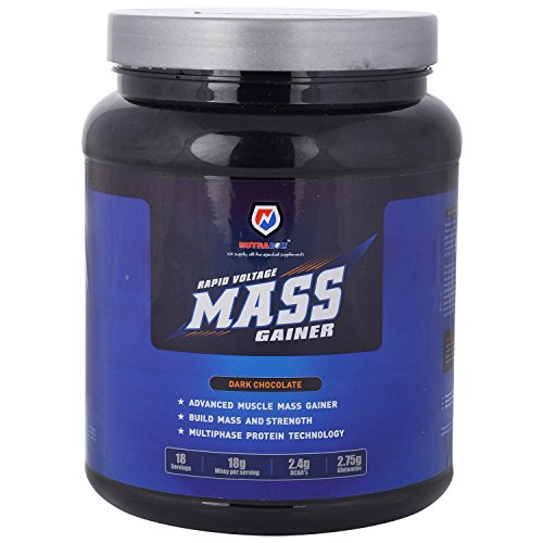 Nutrabolt Rapid Voltage Mass Gainer, 5.6 Lbs, Double Chocolate