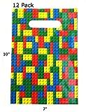 Building Blocks Party Favors Bundle Kit Pack Enough For 12 Kids by MinifigFansTM; Treat Bags, Bracelets, Pencils, & Notebooks