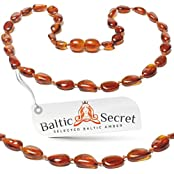 Baltic Amber Teething Necklace For Baby Boy And Girl / Extra Safe & Authentic / 50% Richer And Higher In Value...