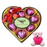 Valentine Chocholik Premium Gifts - Tempting Choco Wrapped Chocolate Box With Teddy