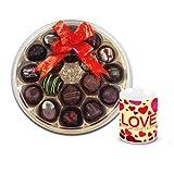 Adorable Combination Of Chocolates With Love Mug - Chocholik Belgium Chocolates