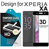 BLACK - SONY XPERIA XA, 2.5D Curved Edge Ultra HD+ 9H Hardness Premium Tempered Glass For BLACK - SONY XPERIA XA
