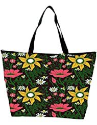 Snoogg Seamless Texture With Flowers And Butterflies Endless Floral Pattern Waterproof Bag Made Of High Strength... - B01I1KHH3S
