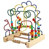 Children Wisdom Around The Bead Beaded Wooden Puzzle Interactive Game