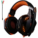 Kotion Each G2000 Gaming Headset Earphone 3.5mm Jack With Led Backlit And Mic Stereo Bass Noise Cancelling For...