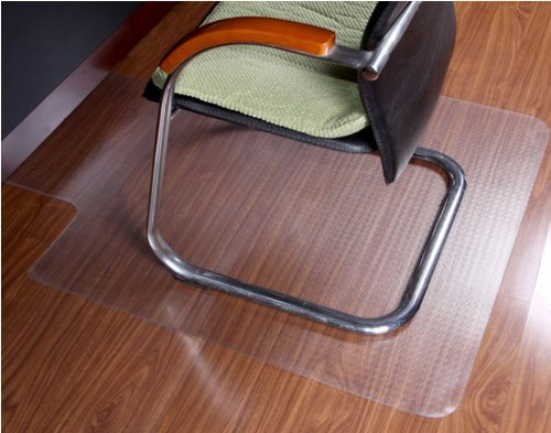 """ProSource 48"""" x 36"""" Clear Multitask PVC Office Chair Floor Mat for Pile Carpets With Vinyl Lip"""