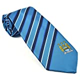Manchester City FC Official Football Gift Sky Blue Striped Tie