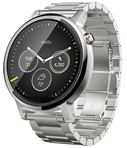 【第2世代】Moto 360 2nd Gen 2015 Smart Watch スマートウォッチ 腕時計 Android Wear iOS対応 (男性用 46mm シルバー) [並行輸入品]