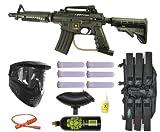 US Army Alpha Black Tactical Paintball Marker Gun 3Skull Mega Set - Black