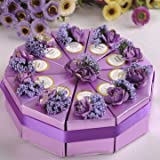10pcs Cake Candy Gift Box Wedding Party Cake Sweet Chocolate Gift Boxes-Purple