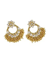 Traditional Fashion Gold Plated Polki Earring For Women Wedding Jewelry