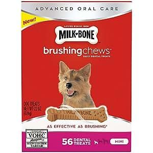 Amazon.com : Milk Bone Mini Dental Brushing Dog Chew 56