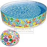 Intex Ocean Play Snapset Pool (6-feet X 13 Inch) With Intex Inflatable Beach Ball