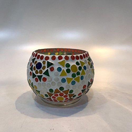 Dlite Crafts Multicolor Polka Design Home Decorative Votive Candle Holder, Set Of 2 PCs - B06XZS5K7W