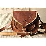 "Handmade Craft 9"" X 7"" Brown ,Genuine Leather Women's Bag /Handbag / Tote/purse/ Shopping Bag"