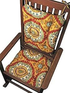 Amazon.com : Porch Rocker Cushion Set - Inessa Suzani Red