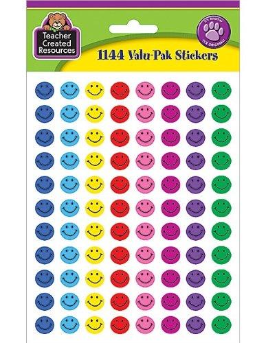 Teacher Created Resources Mini Happy Face Stickers Valu-Pak, Multi Color (6633)