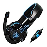 Sades SA708 Gaming Headset With Microphone (Black/Blue)