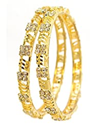Be You Micron Gold Plated A.D. Bangle Set