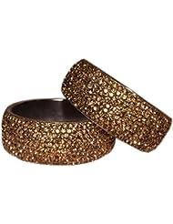 JaypurStore Latest Golden Bangle Set For Girls/Women Traditional