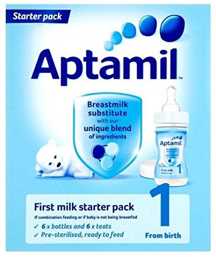 Aptamil(アプタミル) スターターパック 液体ミルク6本+専用乳首6個
