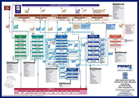 PRINCE2 Process Model: A Comprehensive Graphical View of All the Standard PRINCE2 Products and Processes -  2nd Edition