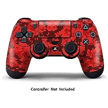 Elton PS4 Controller Designer 3M Skin For Sony PlayStation 4 , PS4 Slim , PS4 Pro DualShock Remote Wireless Controller (set Of Two Controllers Skin) - Digicamo Red