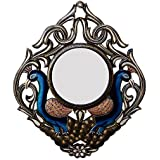 Ghanshyam Art Wood Peacock Wall Mirror (45.72 Cm X 4 Cm X 60.96 Cm, GAC059)