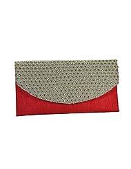Arisha Kreation Co Women Ethnic Envelope Clutch(Pink)