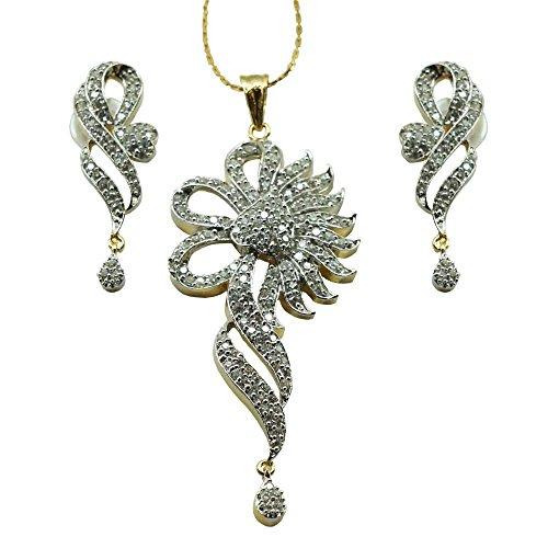 Sheetal Jewellery Silver & Golden Brass & Alloy Pendant Set For Women - B00TIGZTJE