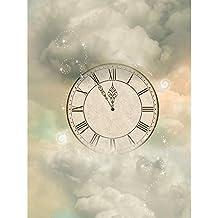 Pitaara Box Magic Clock In The Sky - MEDIUM Size 16.0 Inch X 21.3 Inch - UNFRAMED SELF-ADHESIVE PEEL & STICK GLOSSY...