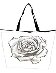 Snoogg Hand Drawn Rose Vector Illustration Waterproof Bag Made Of High Strength Nylon