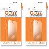 Johra For Reliance Jio LYF Wind 3 Tempered Glass, Real HD+Tempered Glass For Wind 3 Tempered Glass - Pack Of 2