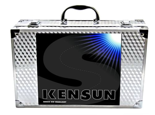 "Kensun HID Xenon Conversion Kit ""All Bulb Sizes and Colors"" with Premium Ballasts – 9006 (HB4) – 6000k – 2 Year Warranty"