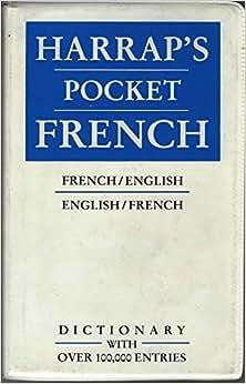 Harraps shorter french-english dictionary book