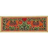 Redbag Lions Madhubani Folk Art Painting 1268 (55.88 Cm, 19.05 Cm, 0.51 Cm)