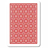 NTP Poker Black Jack Jumbo Index Plastic Playing Cards (Red)