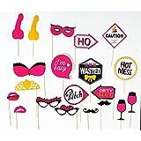 Party Land Premium Bacholerette Photo Booth Props Kit Bride To Be Party Favor Hen Party Photo Booth 20 Pcs Set