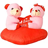 Dabboo Gift Ghar Pink & Red Couple Teddy Bear For Kids