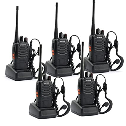 5 Pack BaoFeng BF-888S Long Range UHF 400-470 MHz 5W CTCSS DCS