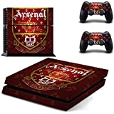 Hytech Plus Arsenal Emblem Special Edition Theme Skin Sticker Cover For PS4 Console And Controllers
