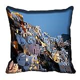 MeSleep Blue City Digital Printed Cushion Cover 16x16